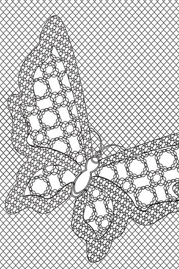 Schmetterling Lace Fence Füllung 150